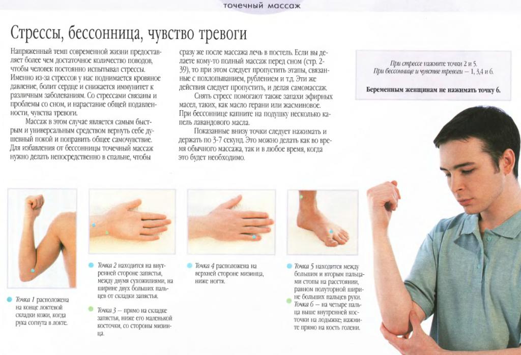 Точечный массаж при тревоге